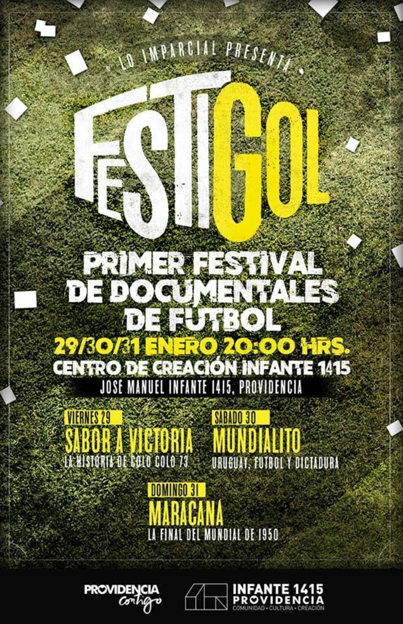 gráfica de un festival de documentales que realizamos en Chile -1