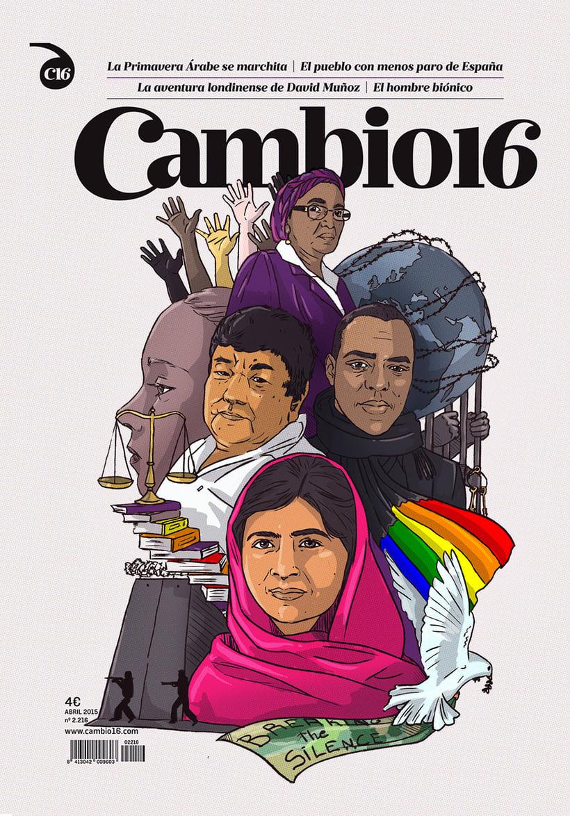 """""""Guerreros de la paz"""": Técnicas de Ilustración y composición realista para prensa. 3"""