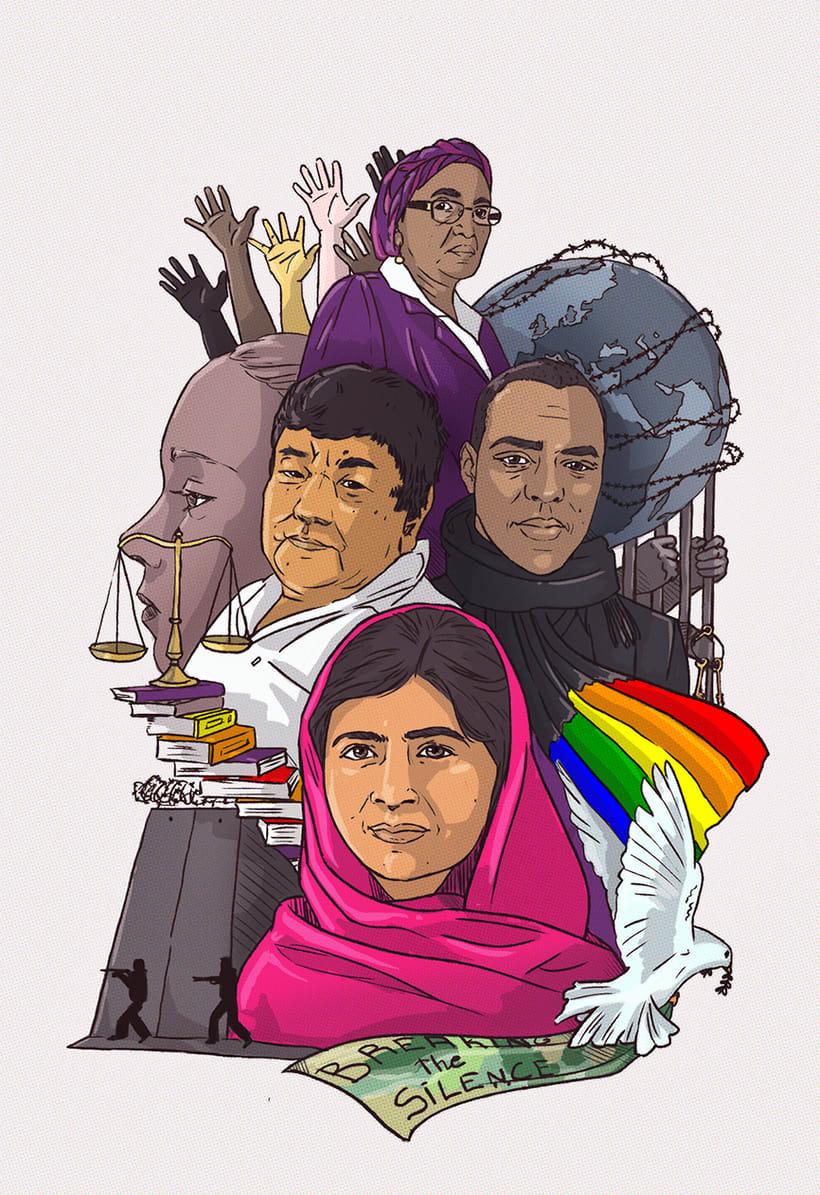 """""""Guerreros de la paz"""": Técnicas de Ilustración y composición realista para prensa. 1"""