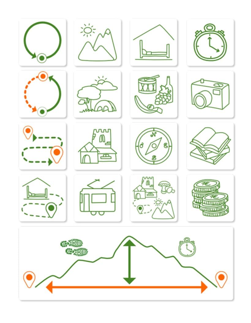 """Iconos, logo, mapas y flyer web """"Dunba"""" 0"""