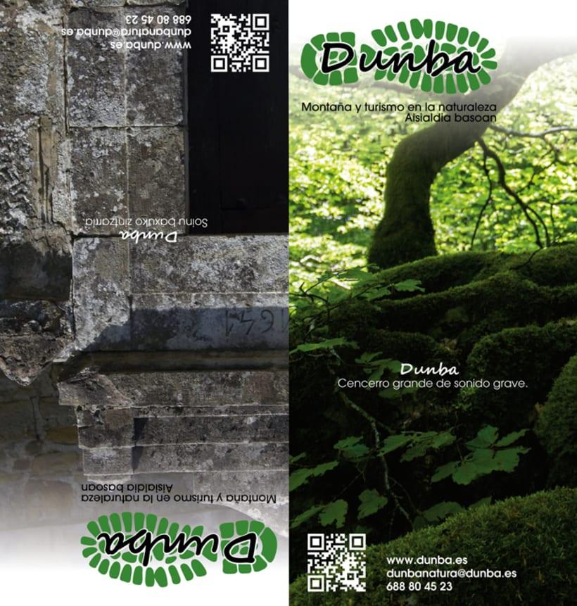 """Iconos, logo, mapas y flyer web """"Dunba"""" 3"""