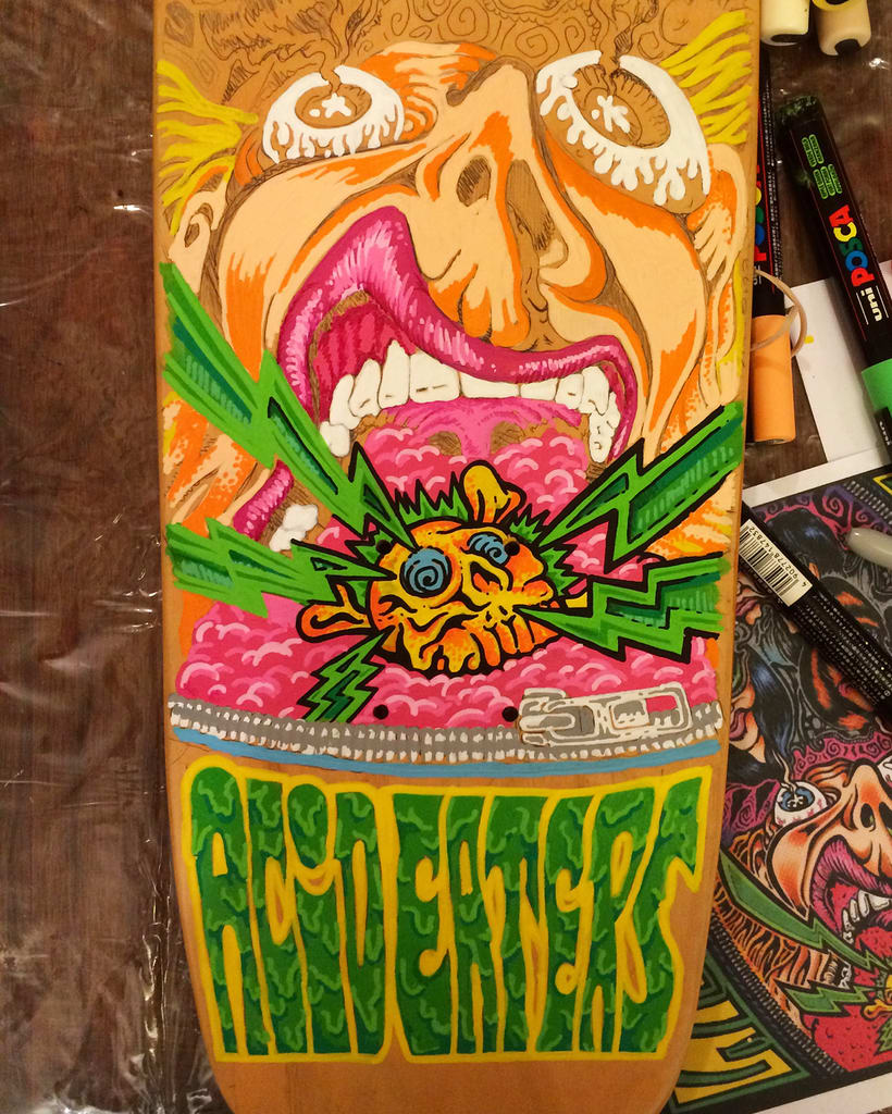 The Ramones - Acid Eaters Longboard. Hey! Oh! Let´s Go! 3