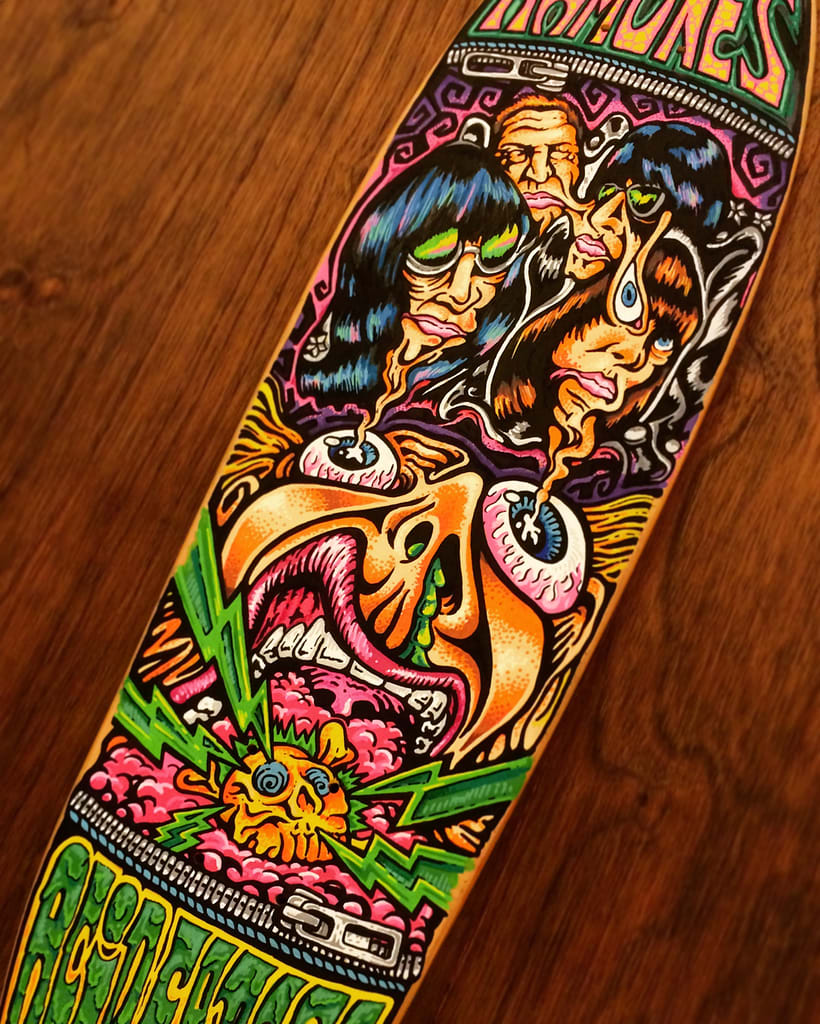 The Ramones - Acid Eaters Longboard. Hey! Oh! Let´s Go! 21