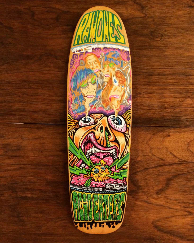 The Ramones - Acid Eaters Longboard. Hey! Oh! Let´s Go! 23