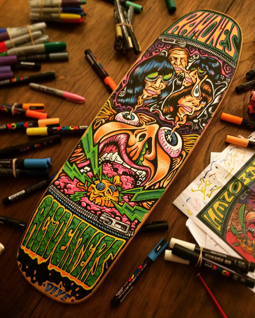 The Ramones - Acid Eaters Longboard. Hey! Oh! Let´s Go! 22