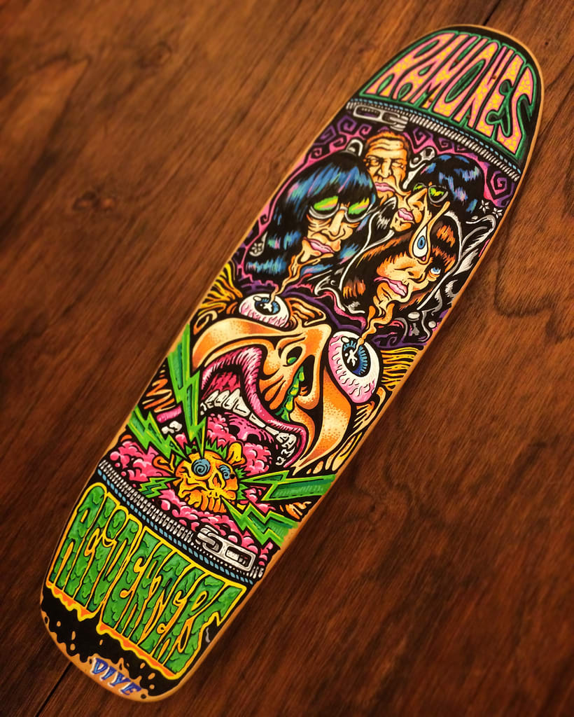 The Ramones - Acid Eaters Longboard. Hey! Oh! Let´s Go! 20