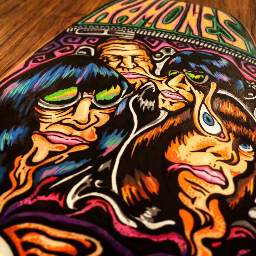 The Ramones - Acid Eaters Longboard. Hey! Oh! Let´s Go! 17