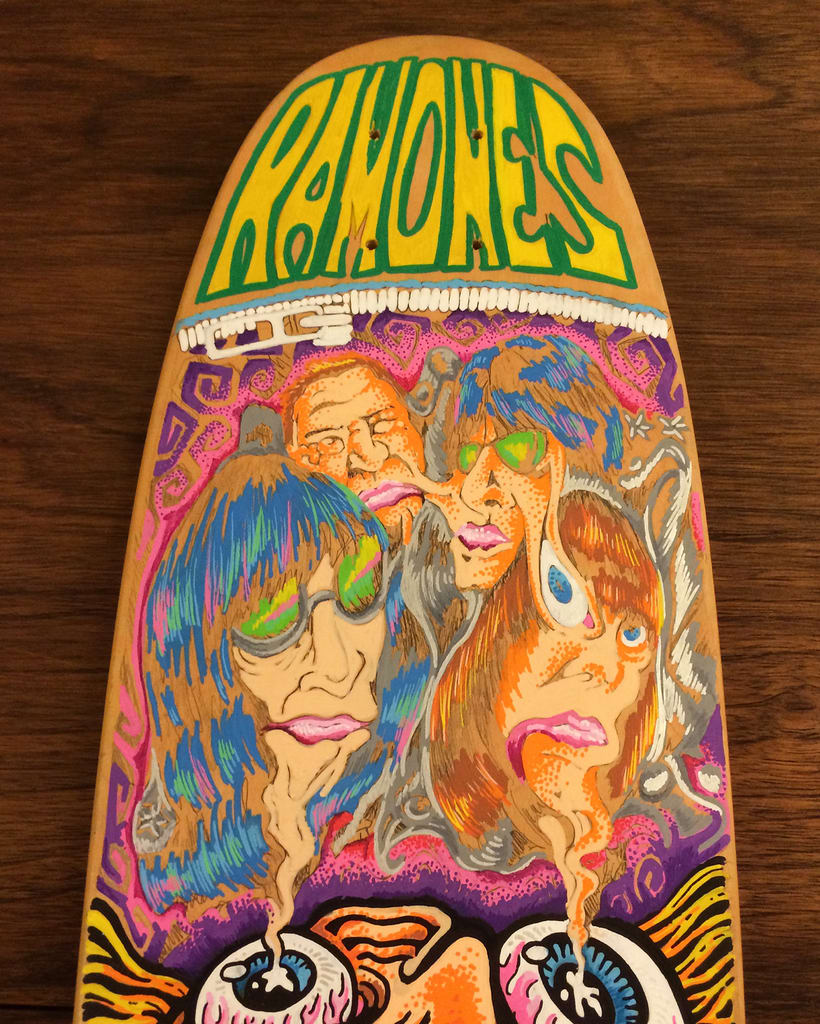 The Ramones - Acid Eaters Longboard. Hey! Oh! Let´s Go! 8