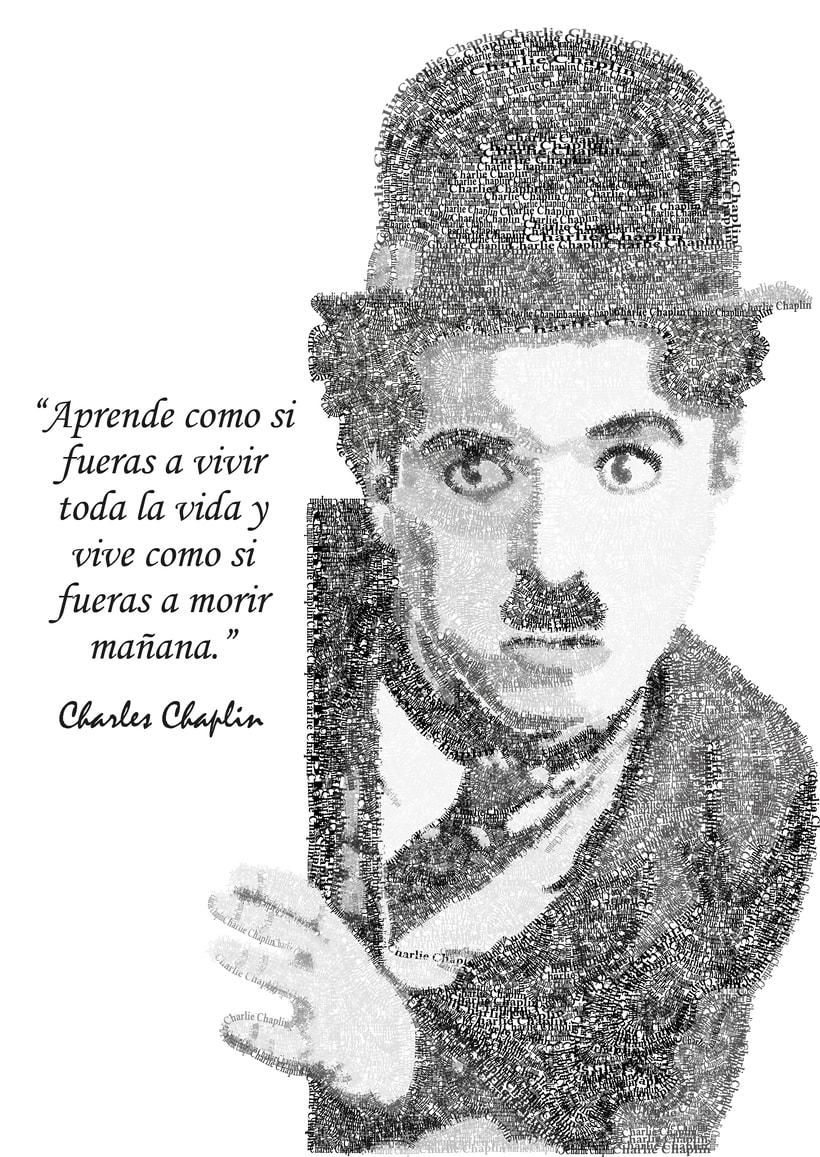 Charlie Chaplin tipográfico  1