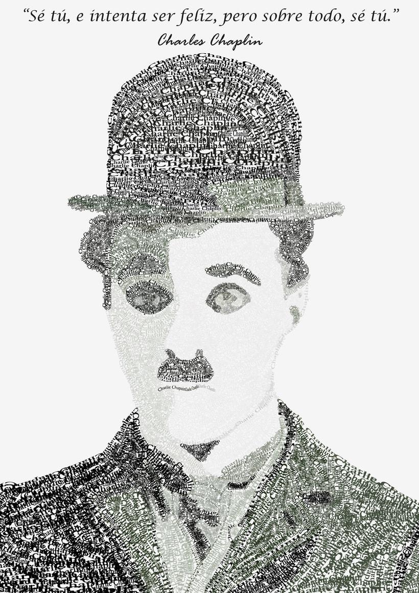 Charlie Chaplin tipográfico  2