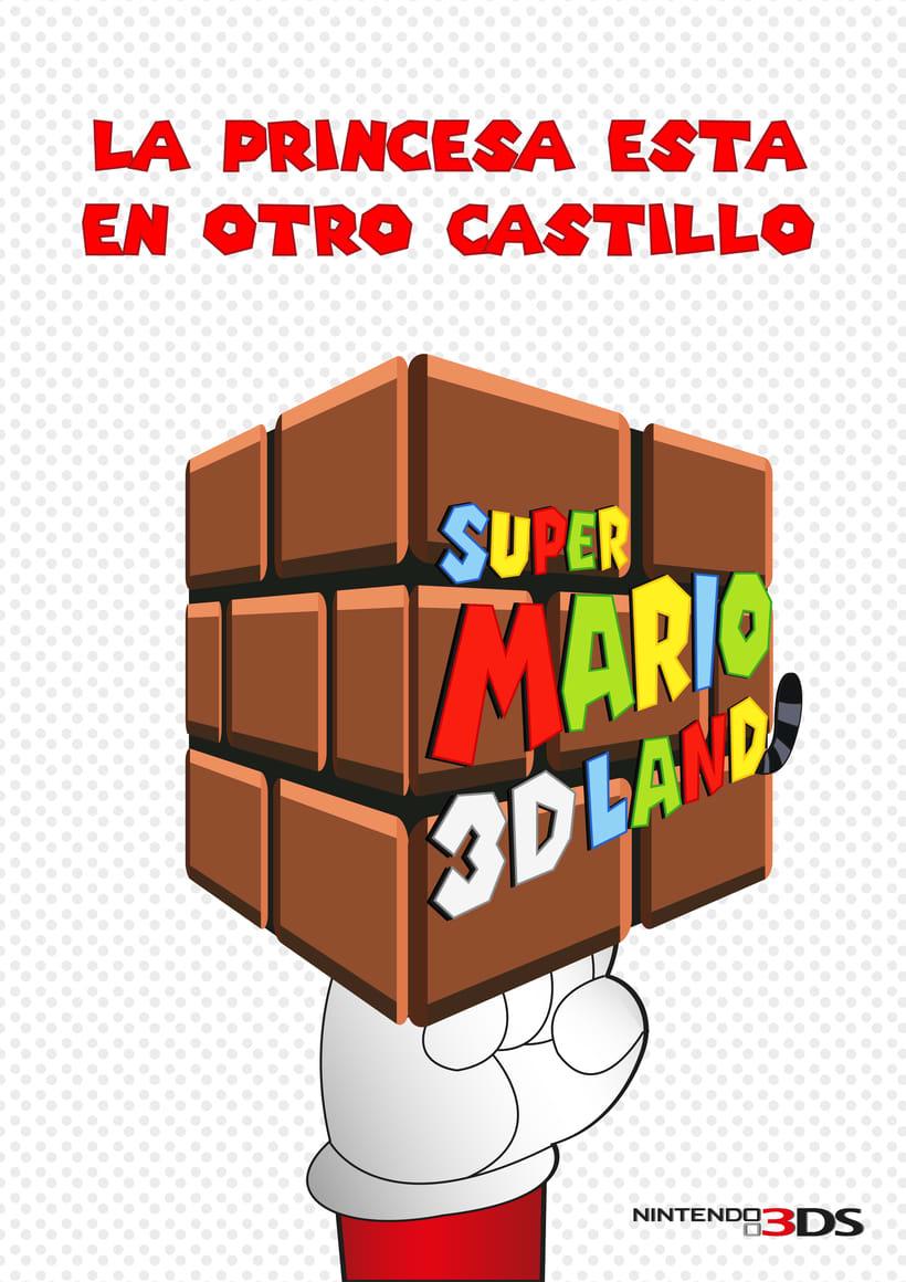Carteles publicitarios Super Mario 3D -1