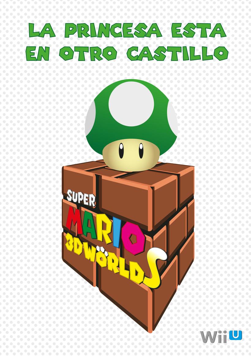 Carteles publicitarios Super Mario 3D 0
