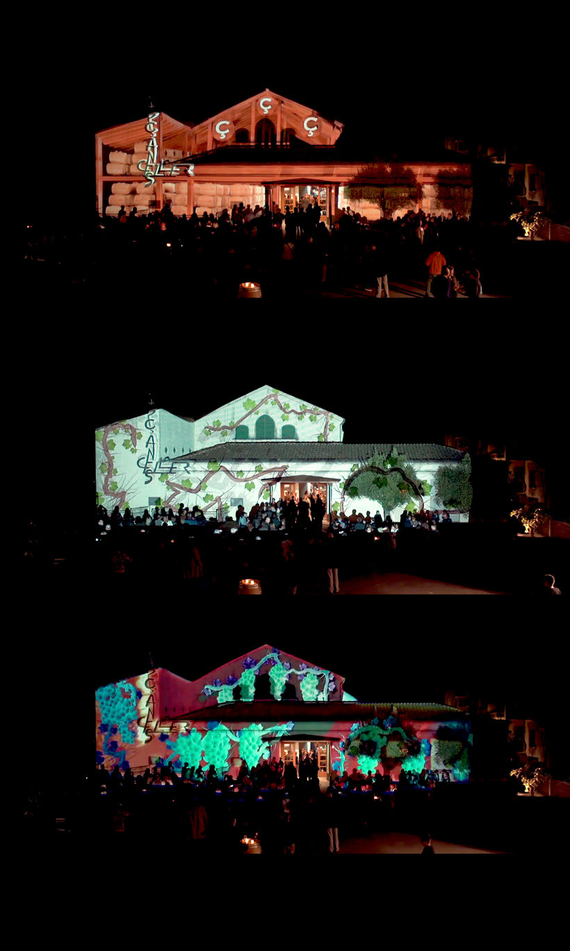 3D Projection mapping / Celler Capçanes 1