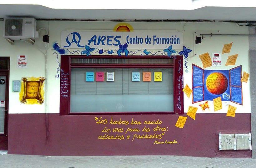 """Pintura Mural """"Academia Ares"""".Alcobendas.2009 -1"""