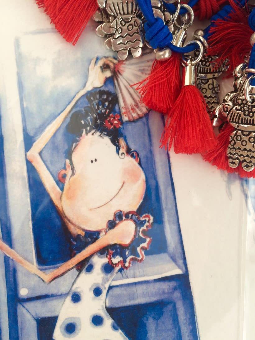 Muy flamencas:  Mini prints y pulseras.  0