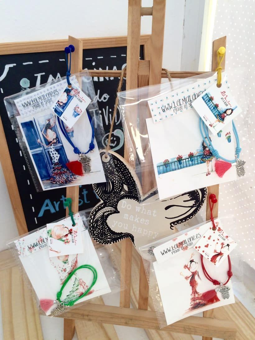 Muy flamencas:  Mini prints y pulseras.  1