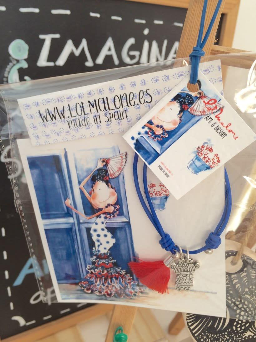 Muy flamencas:  Mini prints y pulseras.  2