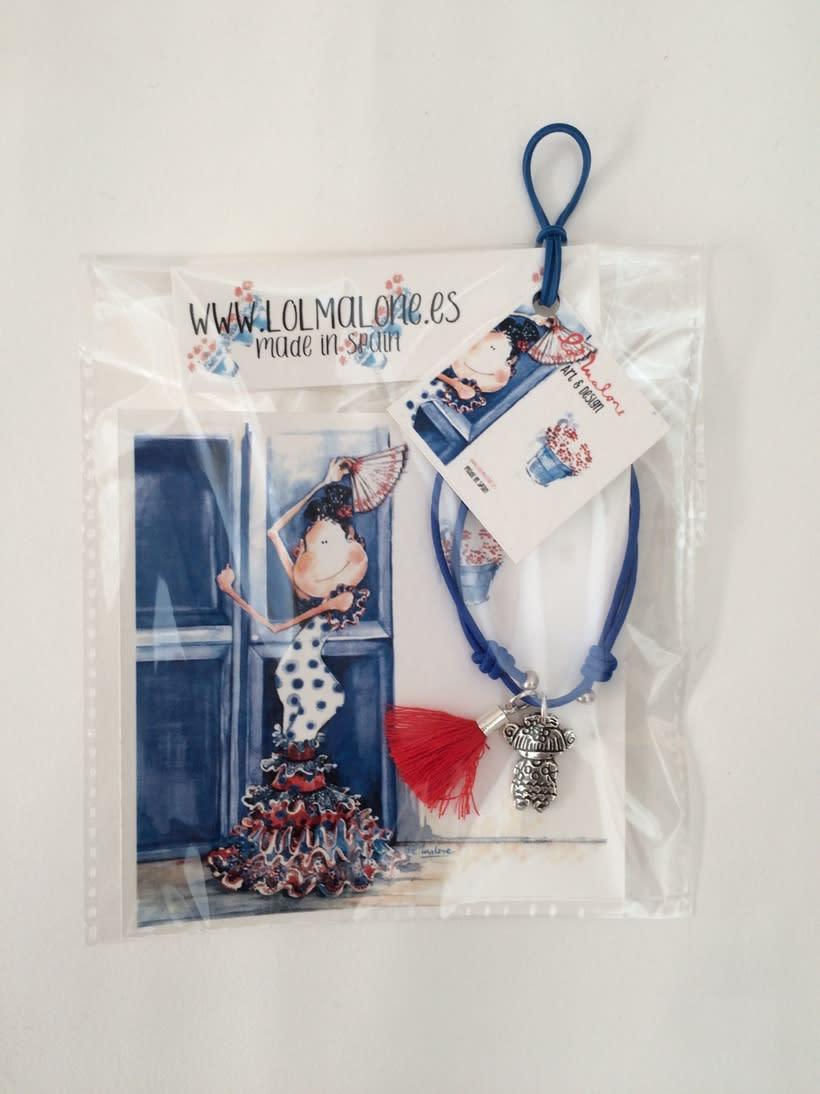 Muy flamencas:  Mini prints y pulseras.  5
