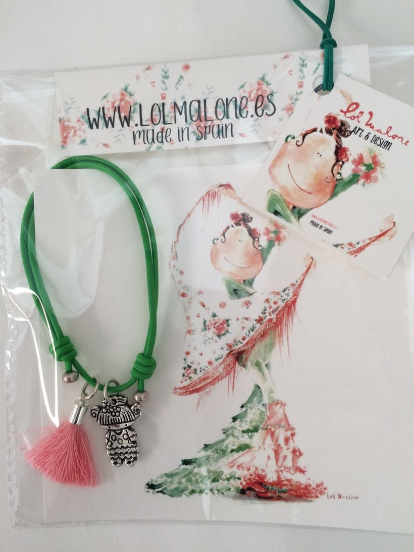 Muy flamencas:  Mini prints y pulseras.  6