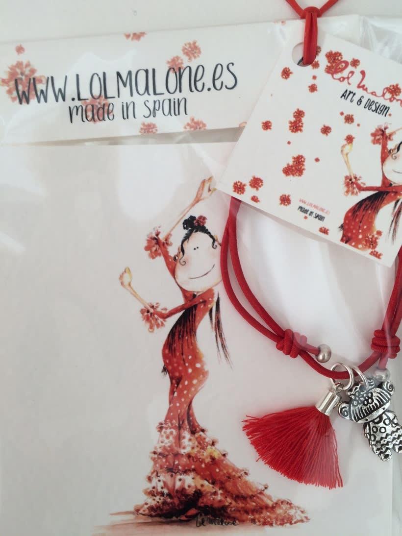 Muy flamencas:  Mini prints y pulseras.  7