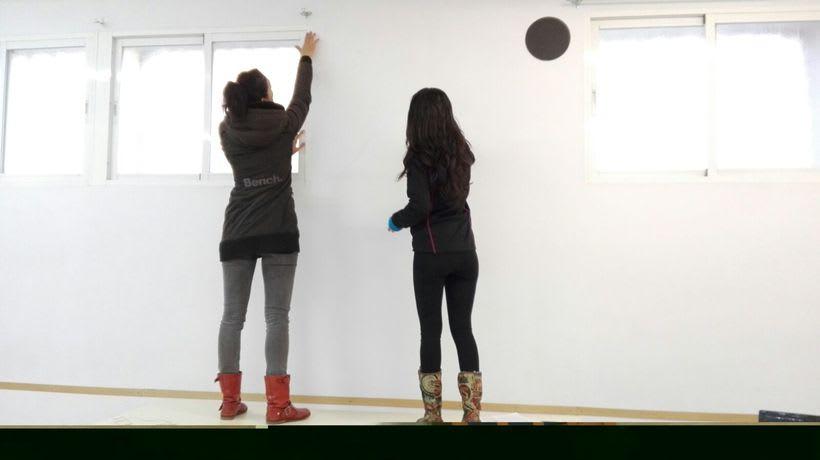 """Pintura Mural """"Proyecto Cometa""""en la """"Parroquia Nuestra Señora de la Paz""""Sala Jóvenes.Granada.2017 0"""