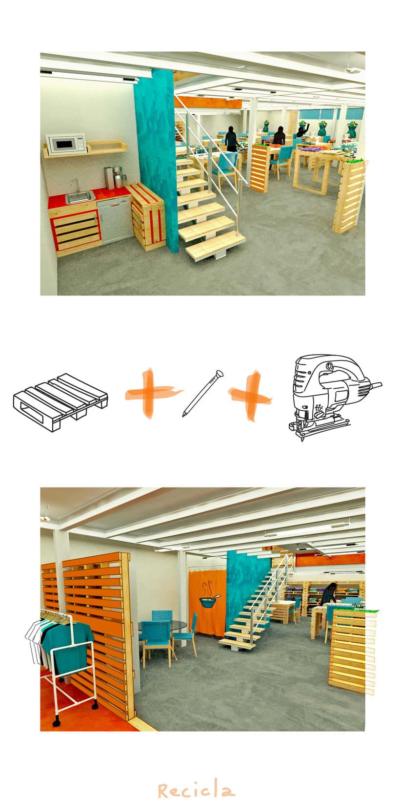 Diseño de Interiores Eco/ Fábrica de Ropa 2