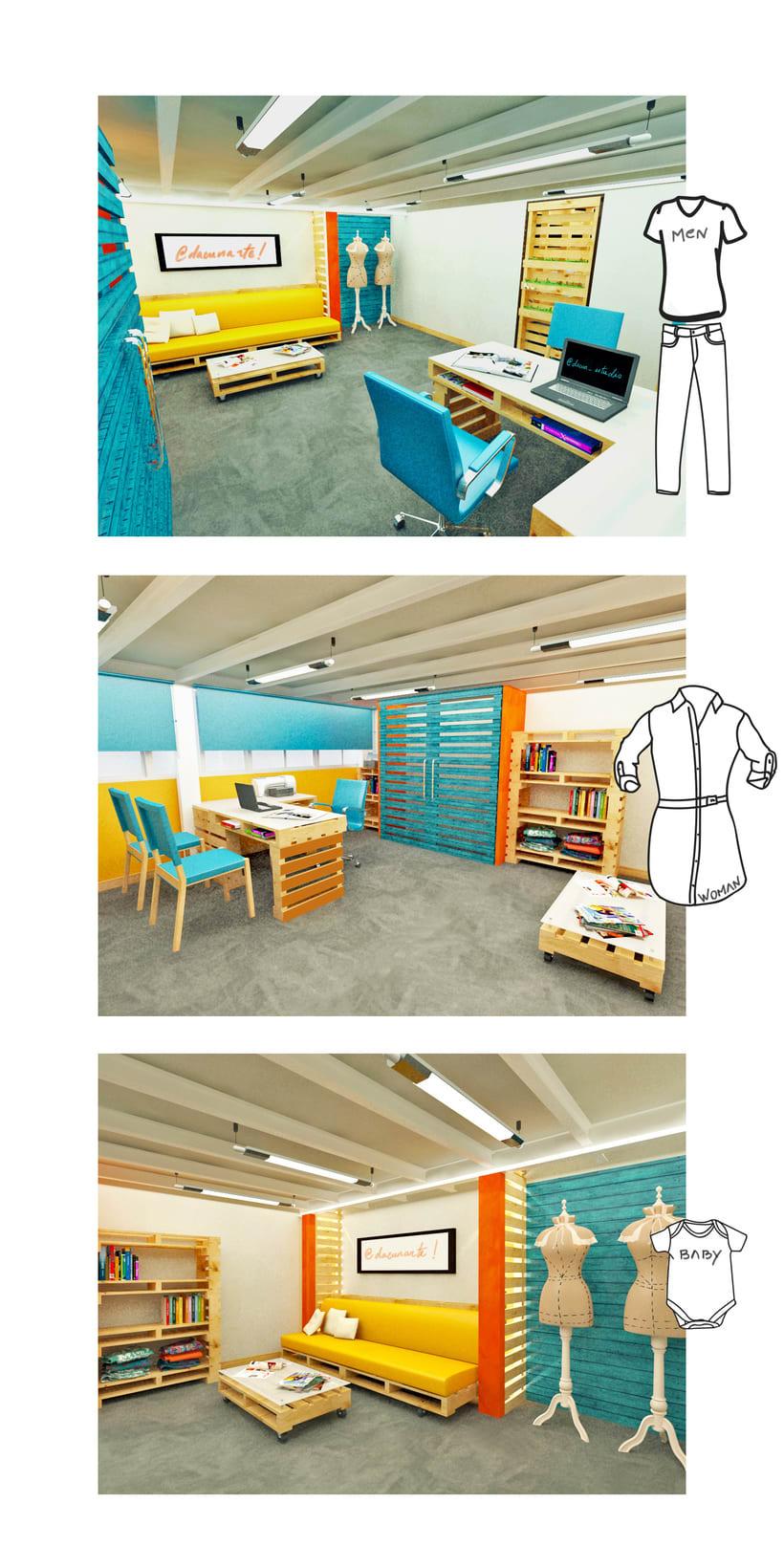 Diseño de Interiores Eco/ Fábrica de Ropa 4
