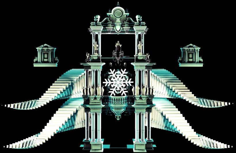 3D Projection mapping /Navidad Sevilla 3