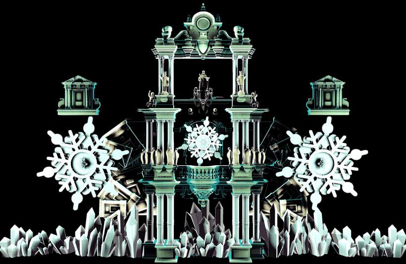 3D Projection mapping /Navidad Sevilla 4