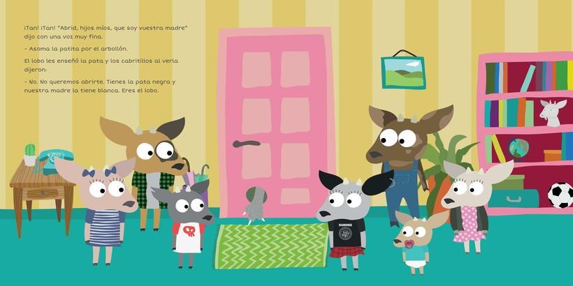 """Ilustración para """"Los siete cabritillos y el lobo"""" 1"""