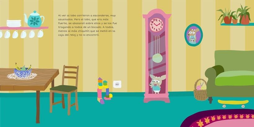 """Ilustración para """"Los siete cabritillos y el lobo"""" 2"""