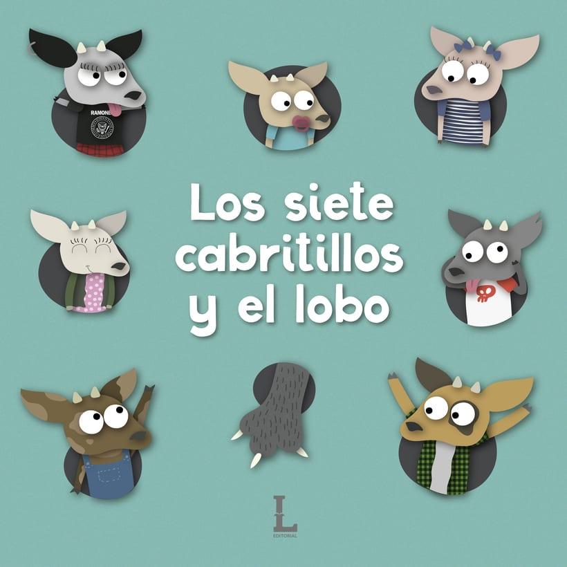 """Ilustración para """"Los siete cabritillos y el lobo"""" 0"""