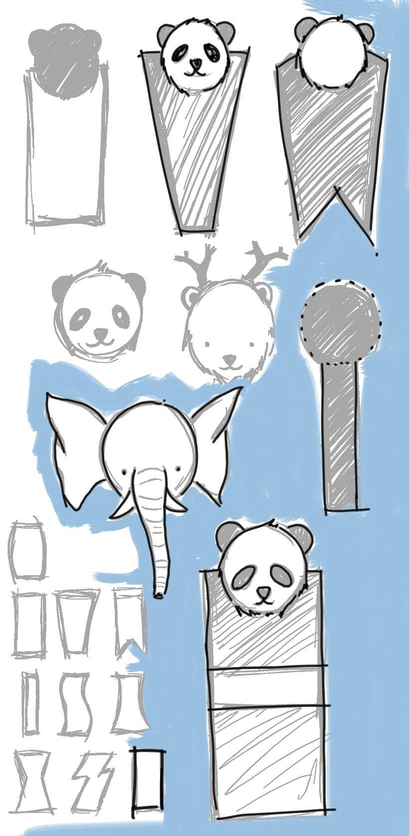 Bocetos para marca libros de recuerdo 3