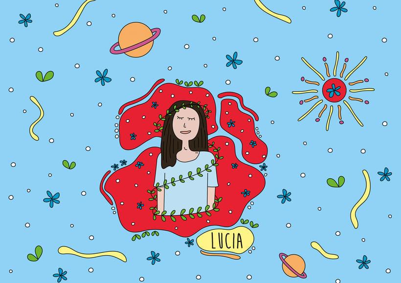 Ilustración personalizada - Lucia -1