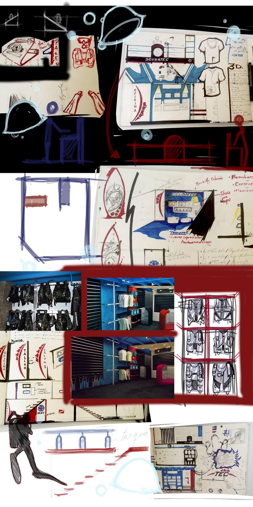 Concepto para tienda de Buceo 3