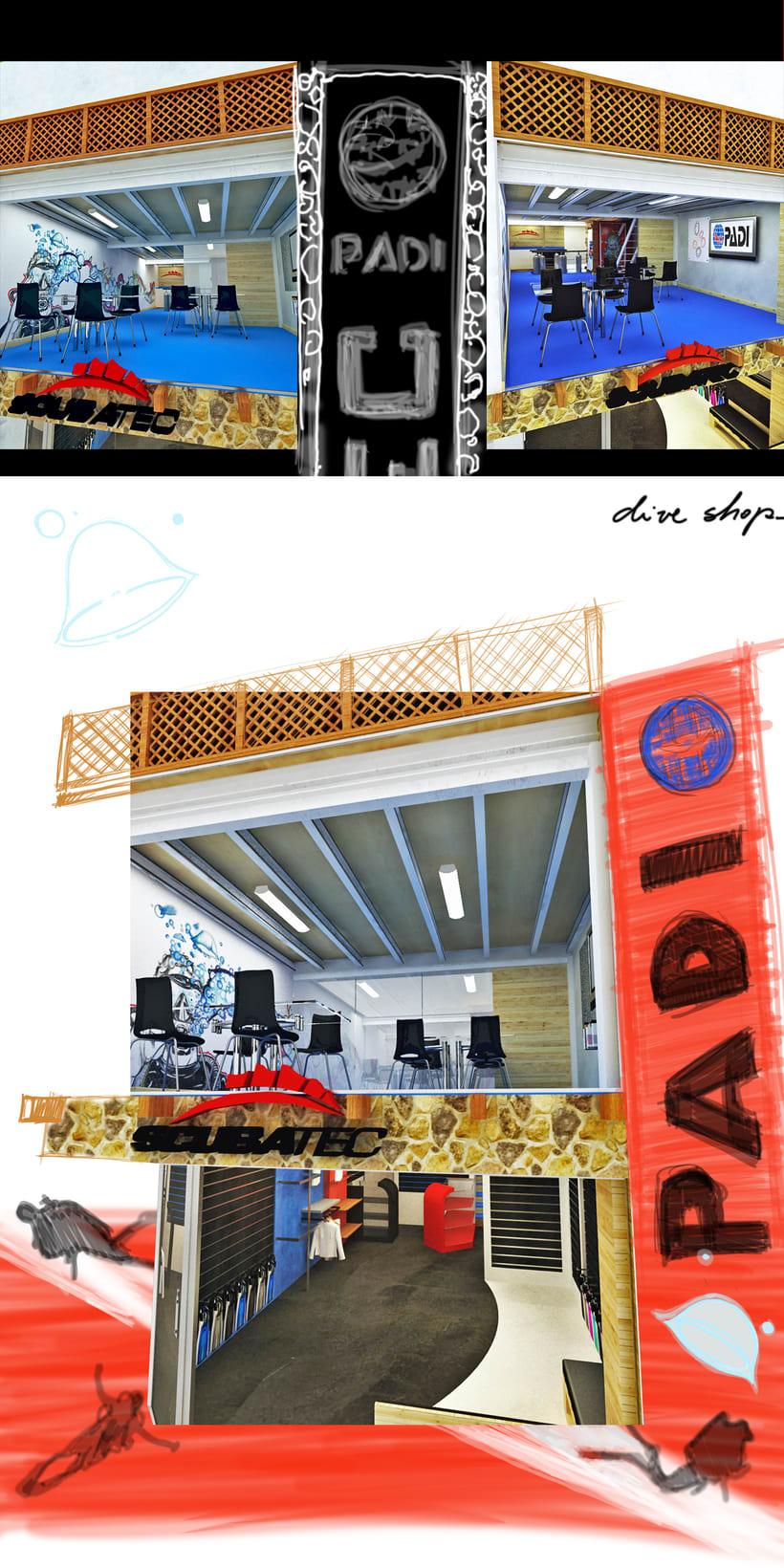 Concepto para tienda de Buceo 6