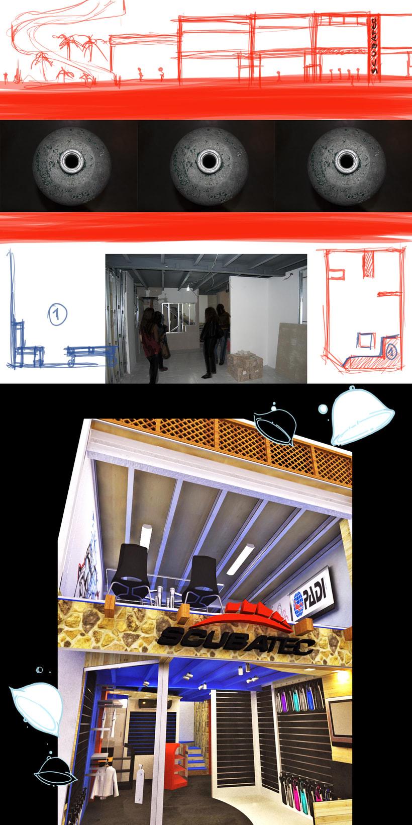 Concepto para tienda de Buceo 8