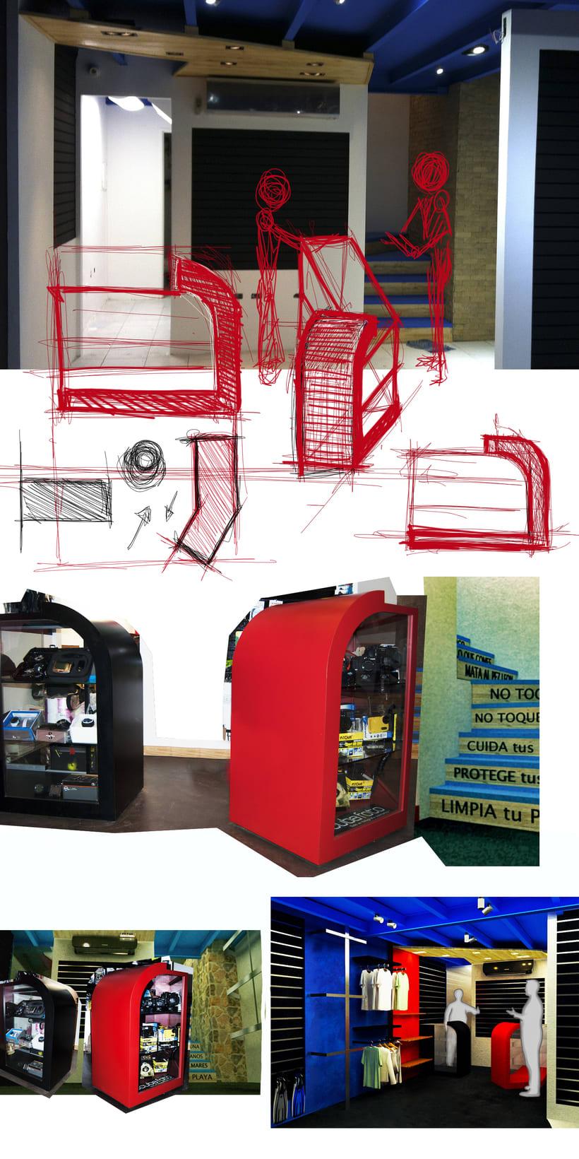 Concepto para tienda de Buceo 10