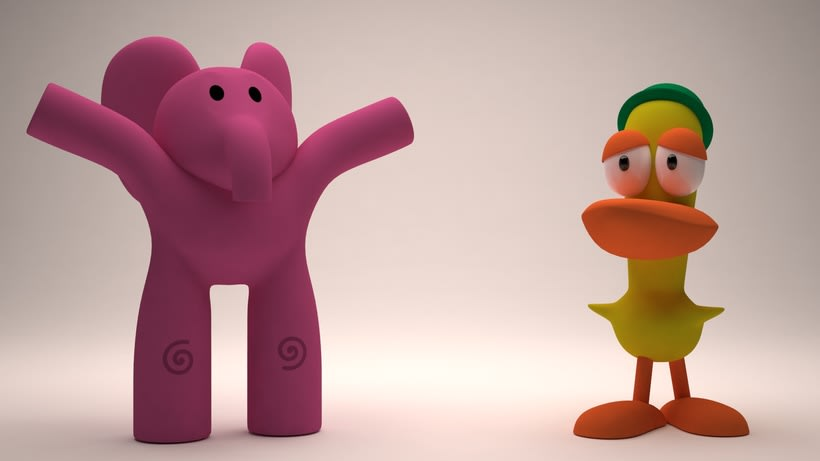 Elly y Pato de Pocoyo 0