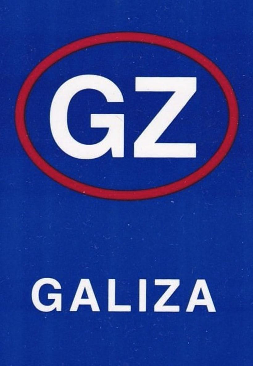 Adesivos para Identidade GZ em placas de automóvel 1