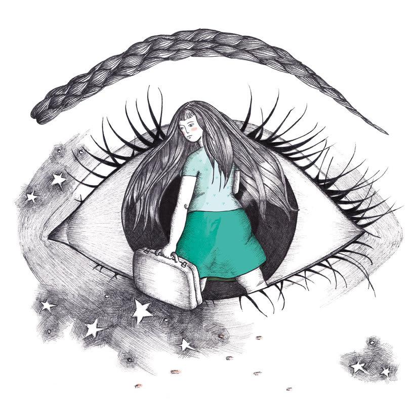 Ilustración del cuento 'Agian, beharbada' (escrito por Miren Usabiaga) -1