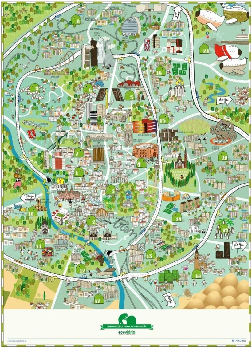Recicla a la madrileña - Mapa de Madrid -1