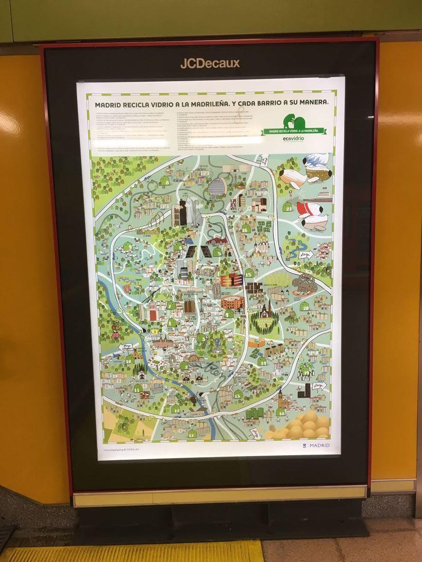 Recicla a la madrileña - Mapa de Madrid 2