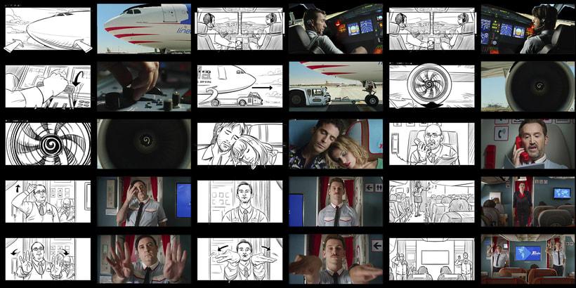 Los Amantes Pasajeros / I'm so excited (Pedro Almodóvar) - Storyboards 1