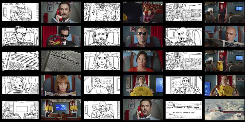 Los Amantes Pasajeros / I'm so excited (Pedro Almodóvar) - Storyboards 2