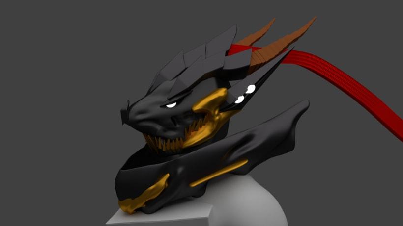 2do. Caballero Dragón Blender -1