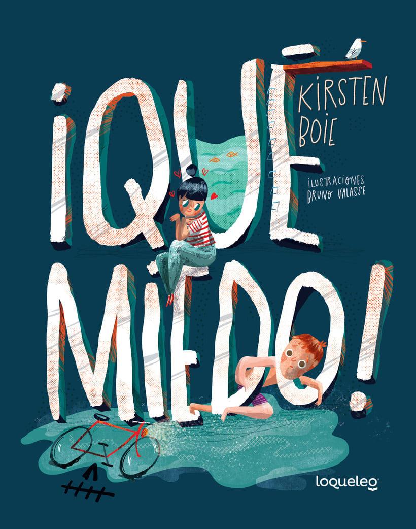 ¡Qué miedo!, libro ilustrado para niños, publicado por Santillana. 0