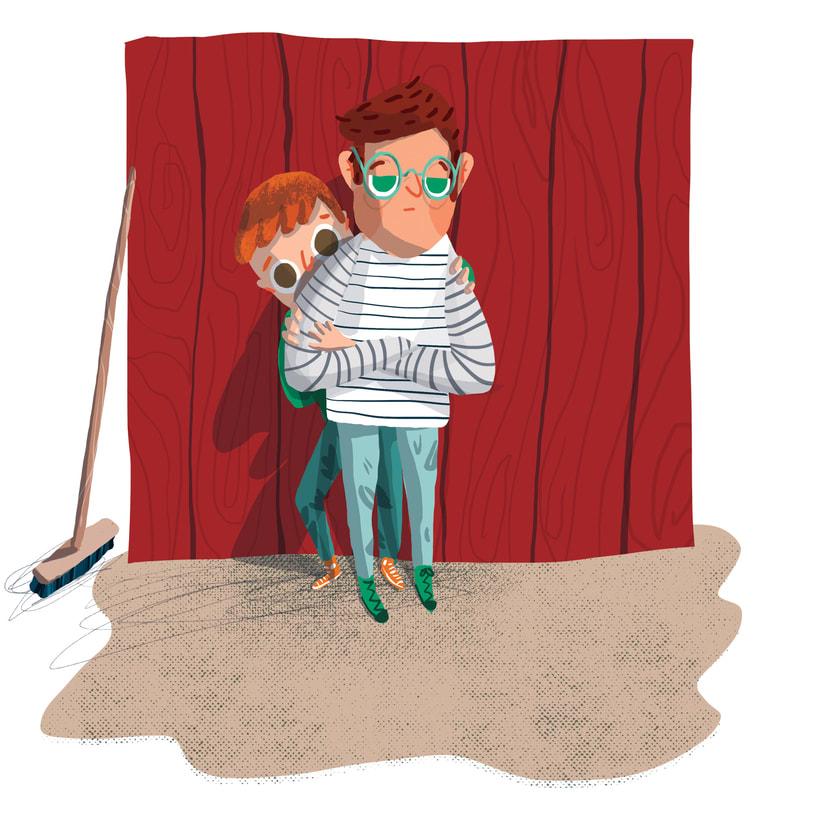 ¡Qué miedo!, libro ilustrado para niños, publicado por Santillana. 4
