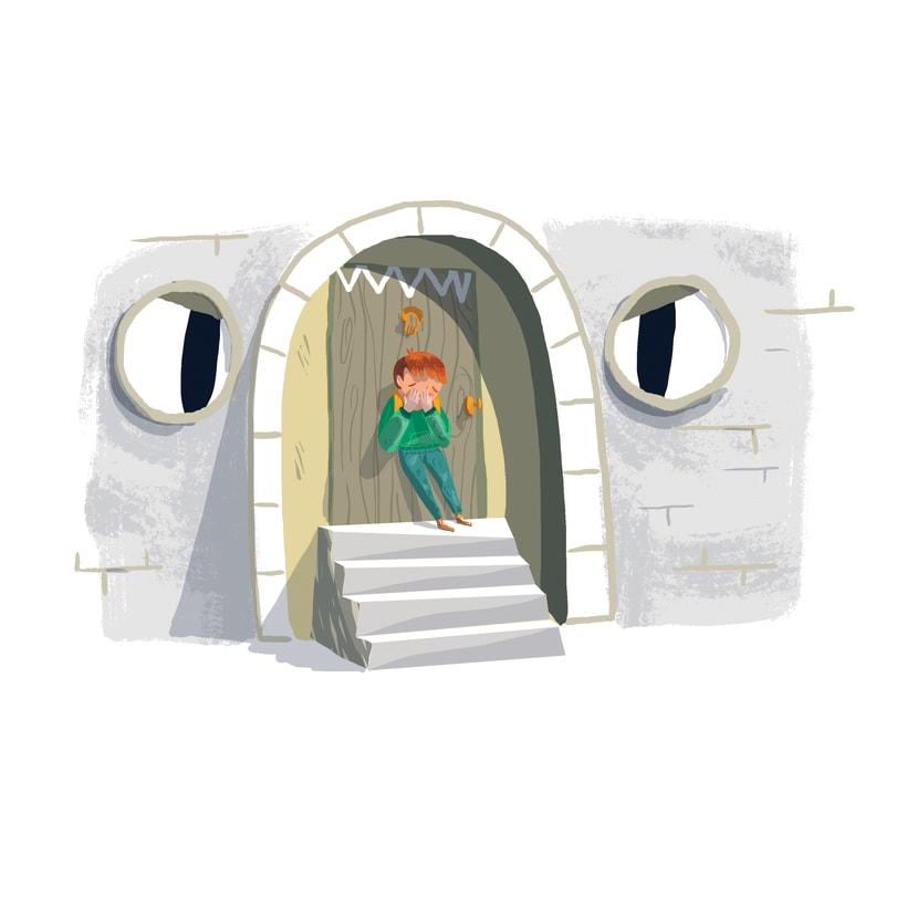 ¡Qué miedo!, libro ilustrado para niños, publicado por Santillana. 8