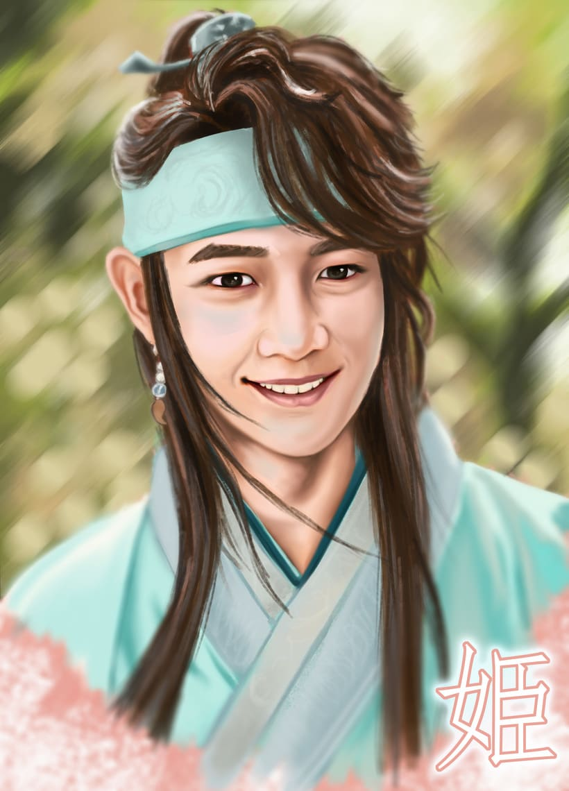 Choi Minho's drawing and 3D modeling from Hwarang:The Beginning 2